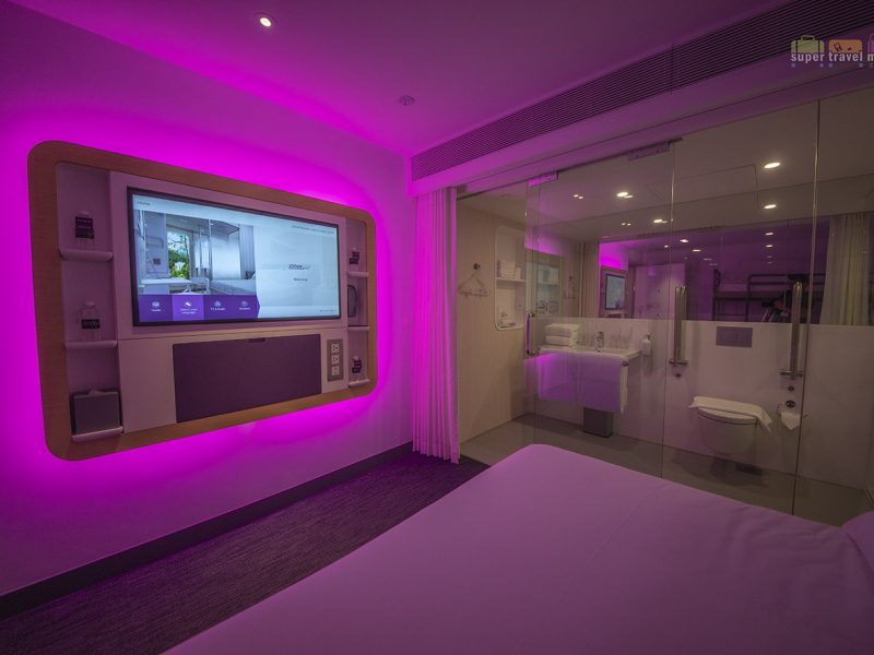 Premium Queen cabin at YOTELAIR at Jewel Changi Airport Singapore
