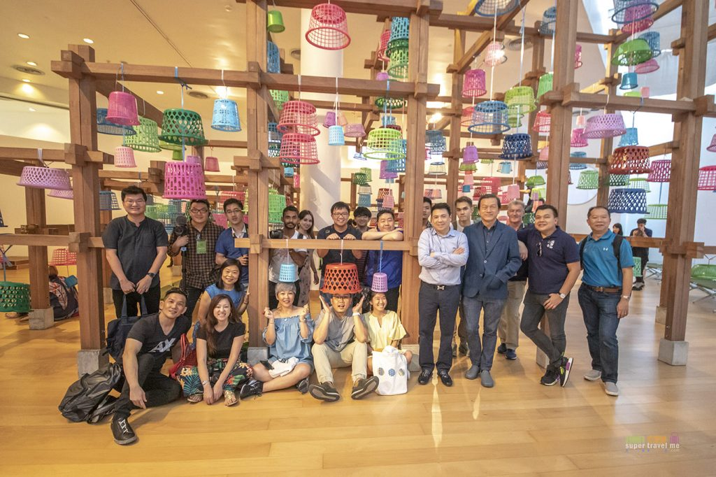 The 12 media members and social media influencers from Singapore at the Bangkok Art Biennale 2018 in Bangkok Arts and Culture Centre.