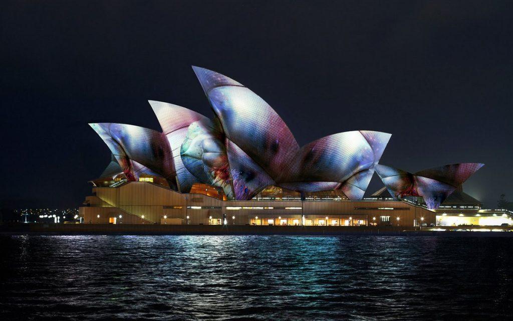 Vivid Sydney 17 - Lighting Sails Microsite Tiles (Vivid Live 2017 Photo)