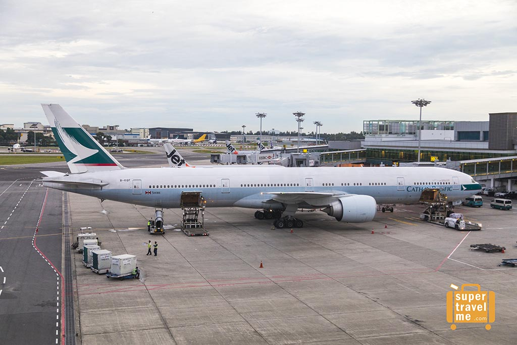 Cathay Pacific Aircraft in Changi Airport