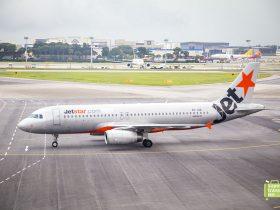 Jetstar Aircraft at Changi Airport
