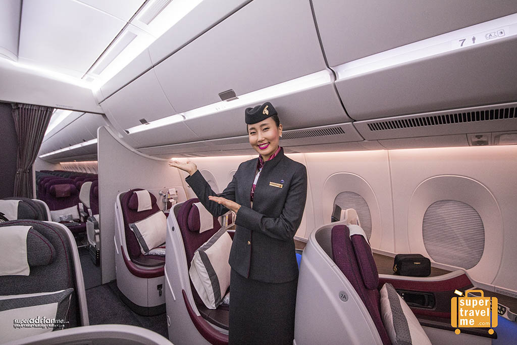 Qatar Airways Business Class Cabin