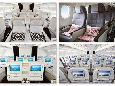 Fiji Airways A330 seats