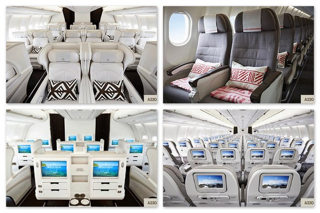 Fiji Airways A330 seats