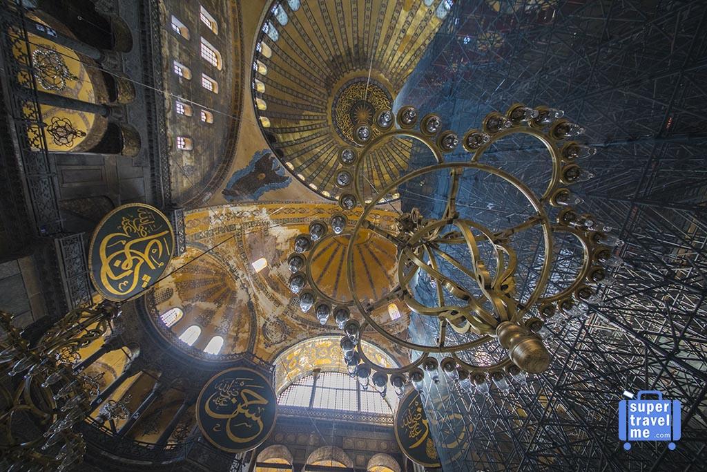 Istanbul - Inside Hagia Sofia