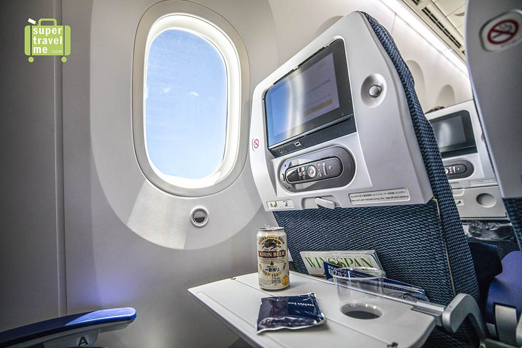 ANA B787-9 Dreamliner - Kirin Premium Beer and Nuts