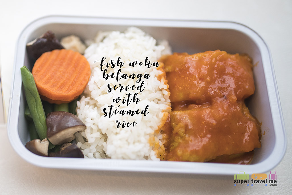 Garuda Economy Class - Fish Woku Belanga Served with Steamed Rice 1G7A5856
