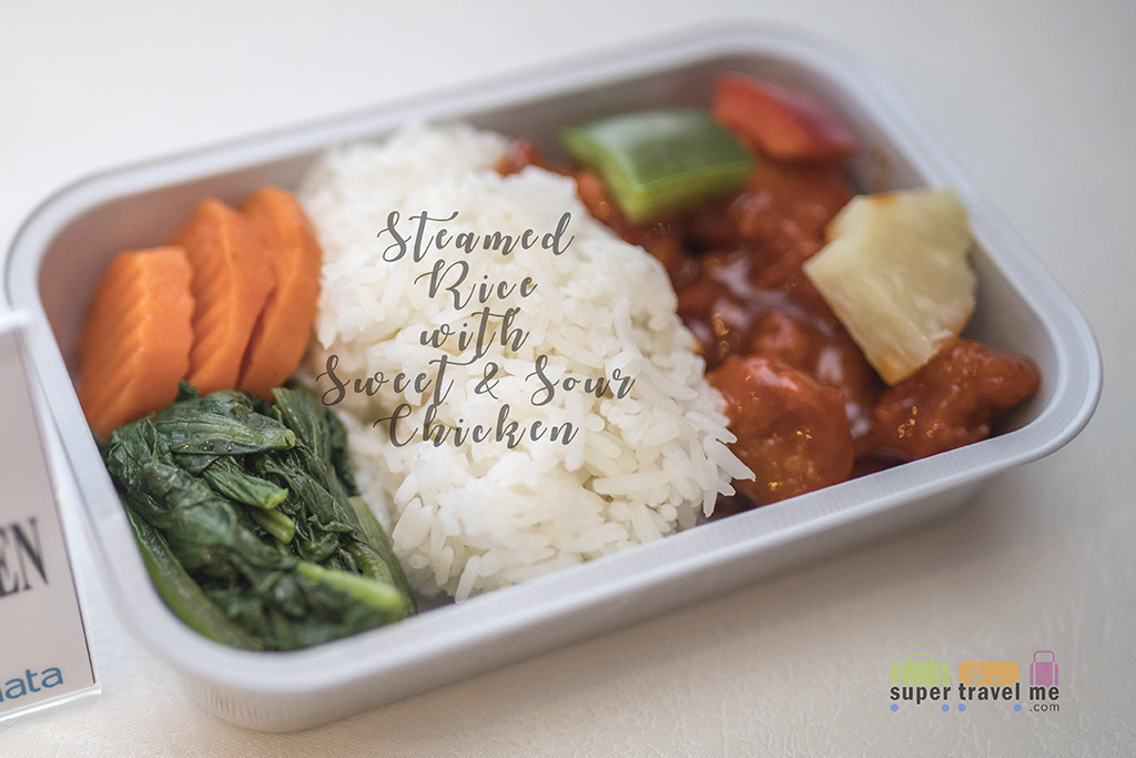 Garuda Economy Class - Steamed Rice with Sweet and Sour Chicken 1G7A5851