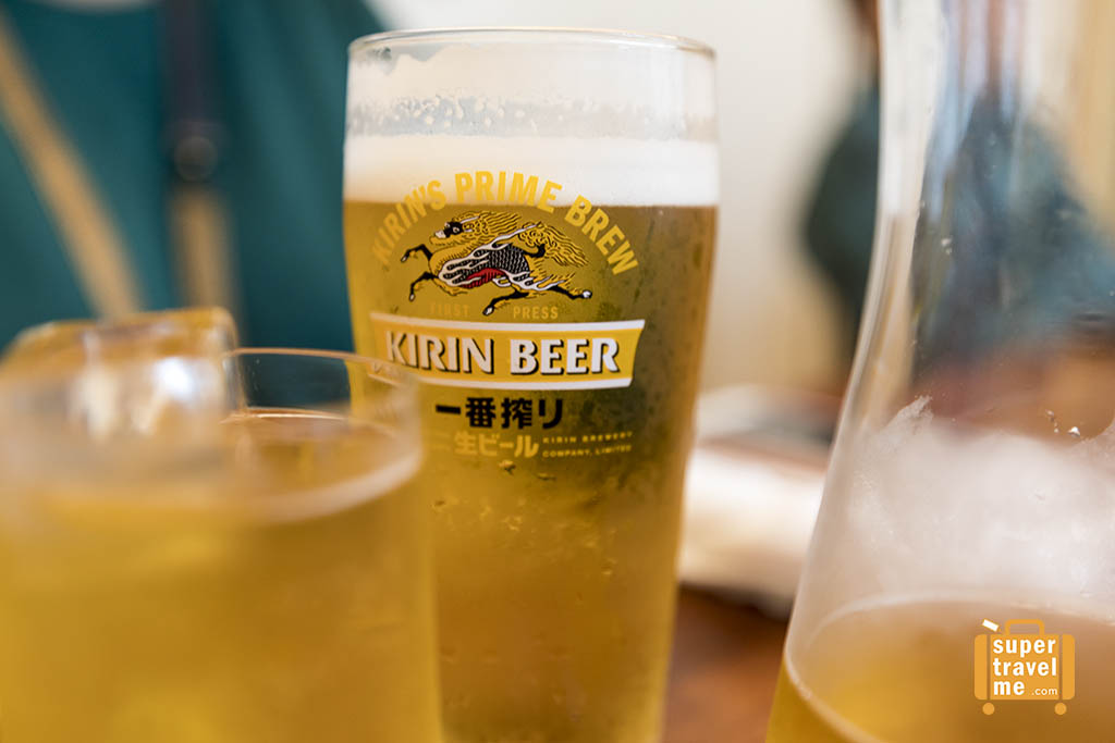 Enjoy refreshing Kirin Beer
