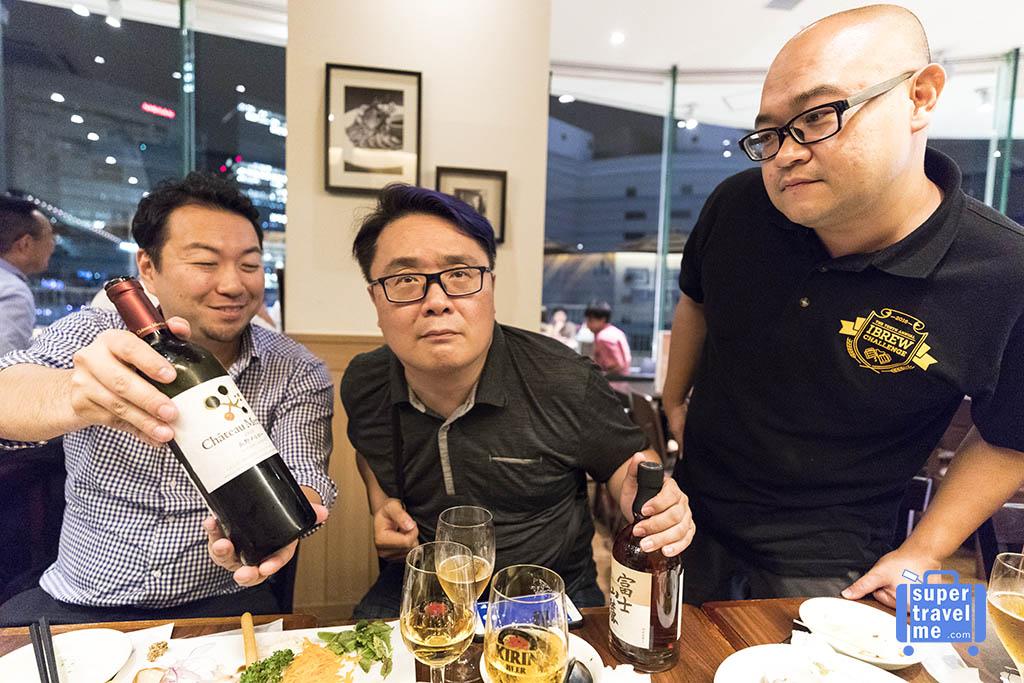 Beer, Whisky and Wine at Kirin City in Yokohama