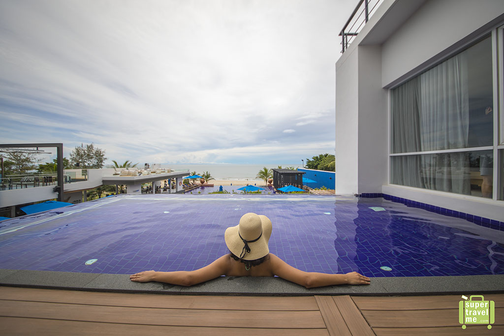 Swim in your own private pool if you stay in the one bedroom suites with private pool at the Radisson Blu Resort Hua Hin