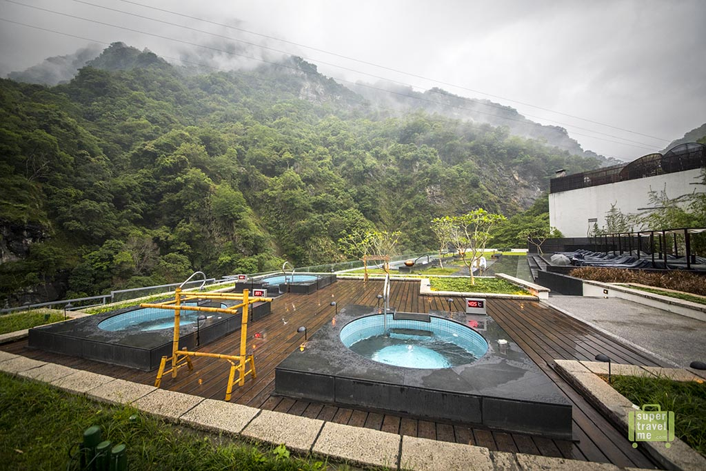 Outdoor hot spring at Silks Place Taroko