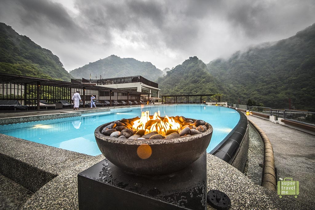 The outdoor pool at Silks Place Taroko