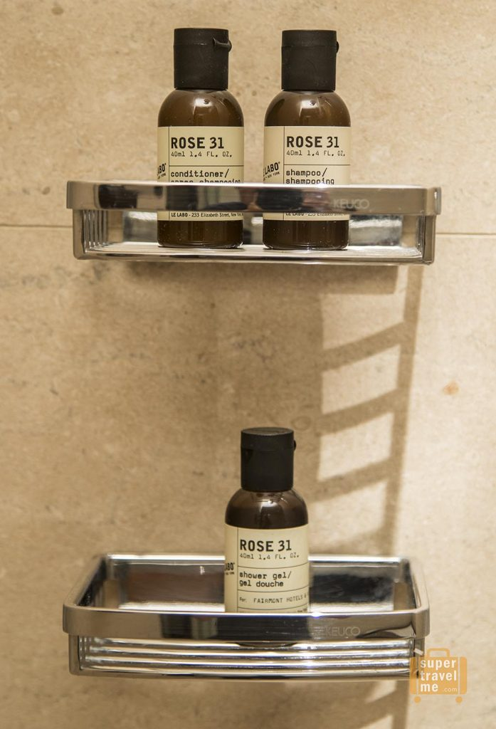 My favourite Le Labo Rose 31 scented amenities - a standard of Fairmont Hotels around the world