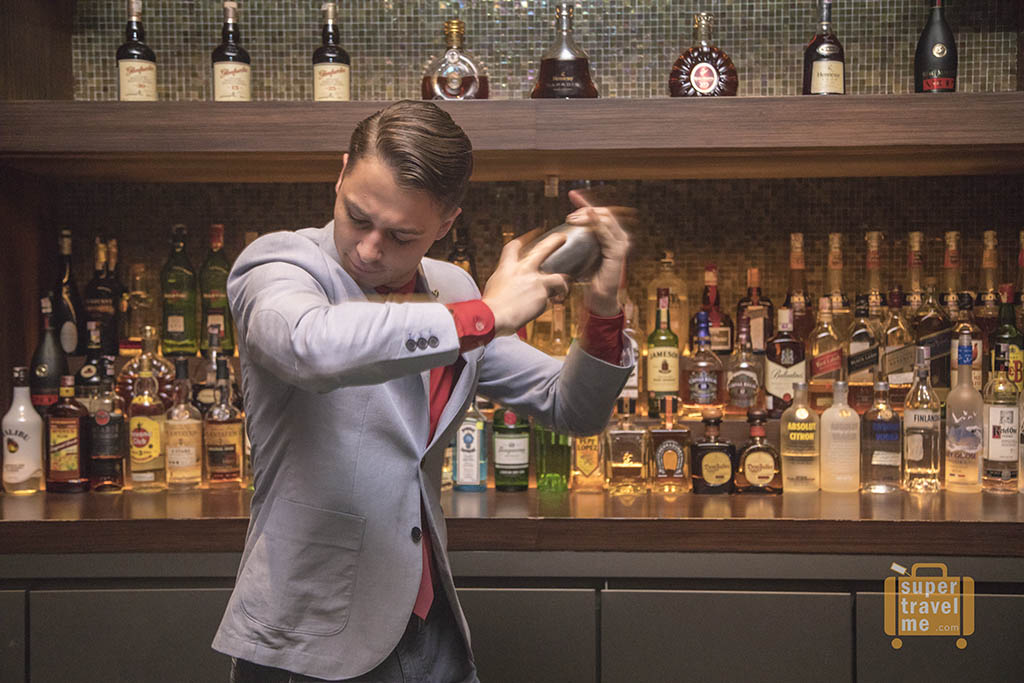 Mixologist Witek Wojaczek from The Beaufort Bar, The Savoy London at Barong Bar in Fairmont Jakarta