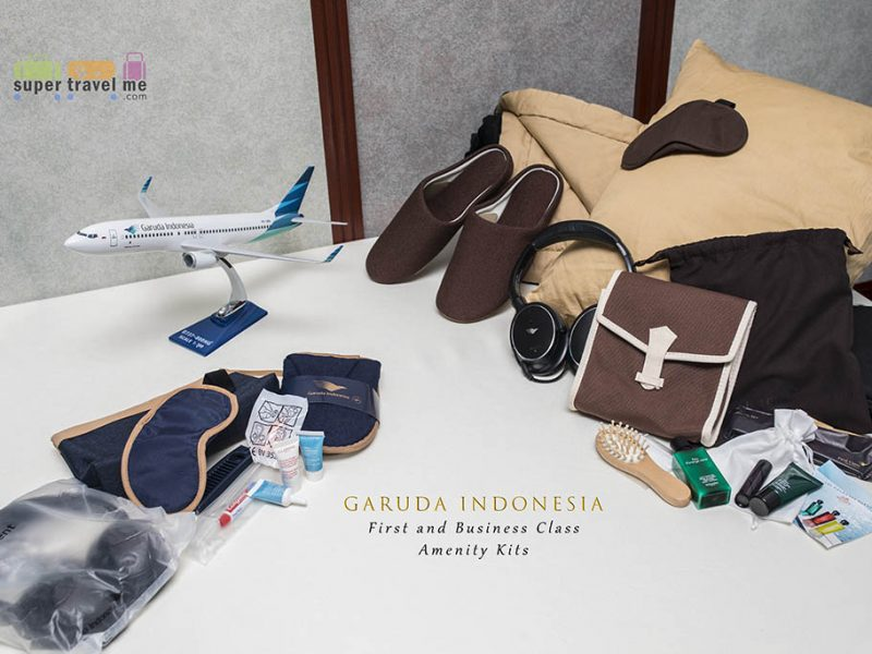 Garuda Indonesia First and Business Class amenity kit cover photo