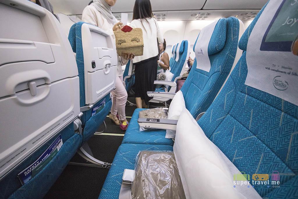 SilkAir Boeing 737 MAX 8 Economy Class seat
