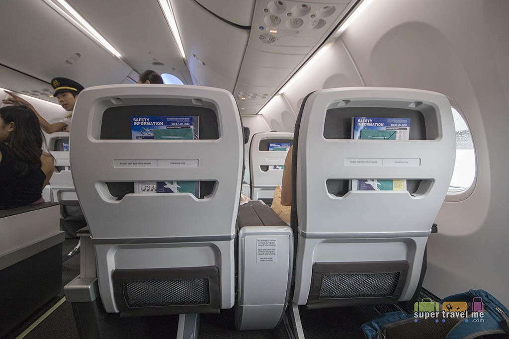 Silkair Boeing 737 MAX 8 Business Class seat back