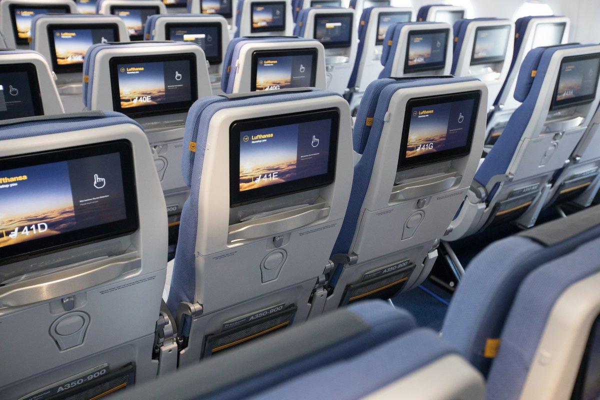Lufthansa A350-900 Economy Seats (D-AIXE) (Lufthansa photo)