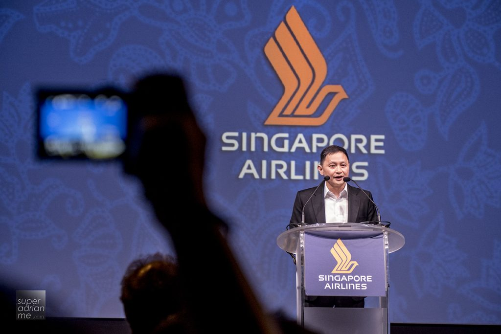 SIA CEO Mr Goh Choon Phong Singapore Airlines A380 new Suites business class