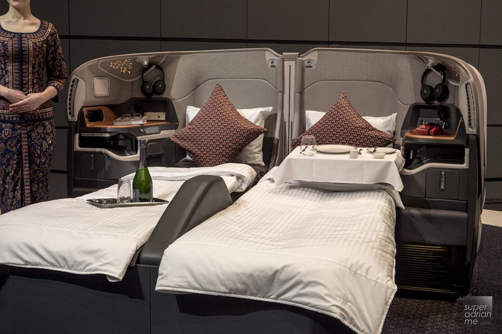 Singapore Airlines A380 new Business class 2017