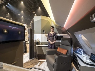 Singapore Airlines A380 new Suites business class