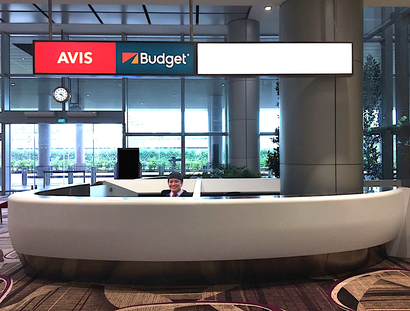 Avis and Budget Service Counter at Changi Airport T4