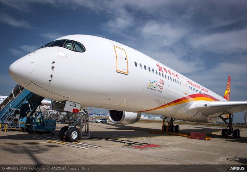 Hong Kong Airlines A350-900 MSN 124 (Airbus photo)