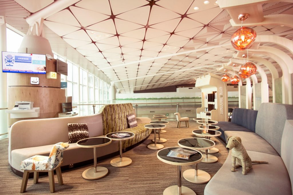 Club Autus at Midfield Terminal in Hong Kong International Airport (HKA photo)