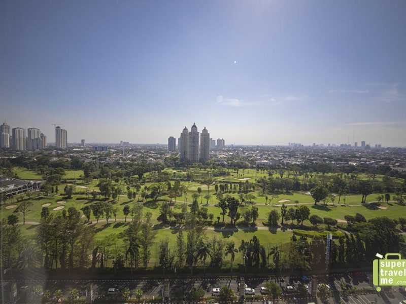 The view from the Senayan National Golf Course in Jakarta from Fairmont Jakarta