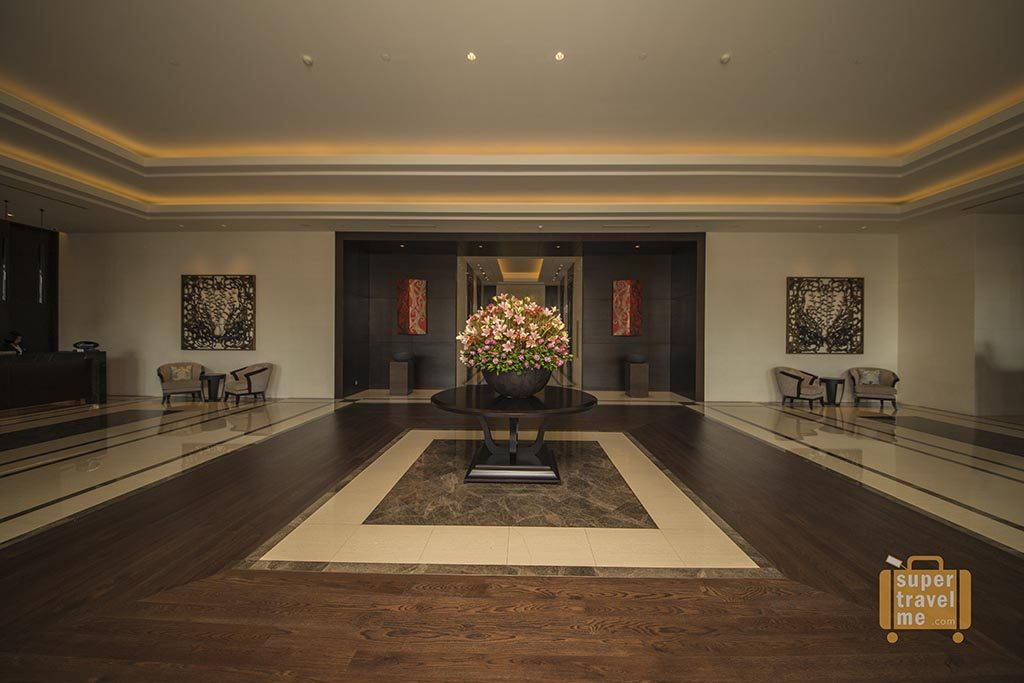 The ground floor lobby at The Fairmont Jakarta