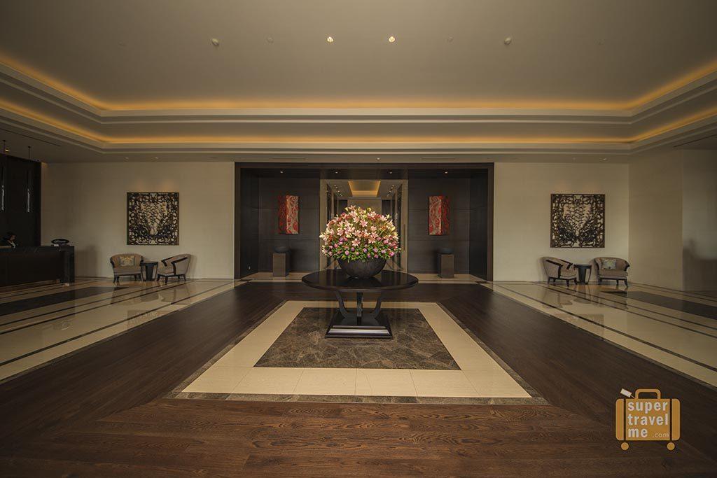 The ground floor lobby at The Fairmont Jakarta