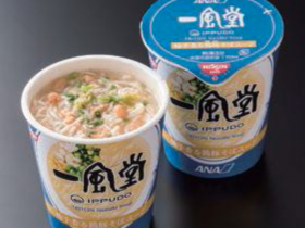 IPPUDO TRITON Noodle Soup served on ANA Premium Economy