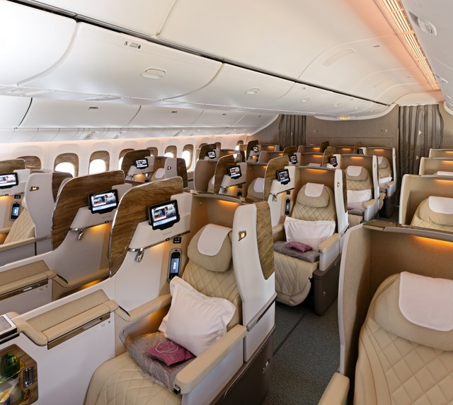 Emirates New Business Class Cabin on Boeing 777-300ER (Emirates photo)