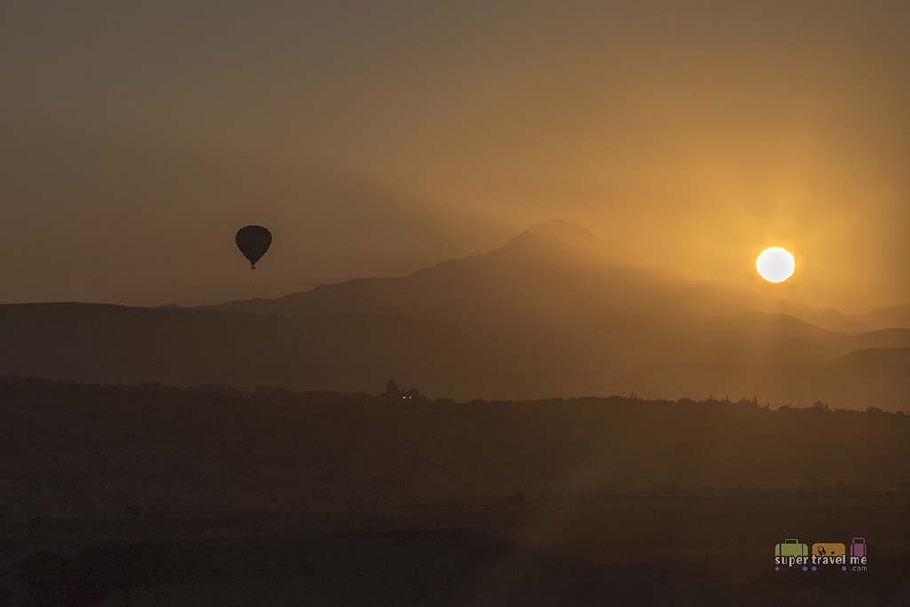 The beauty of one and the Cappadocian sunrise from ARIANA Sustainable Luxury Lodge in Uchisar, Cappadocia, Turkey
