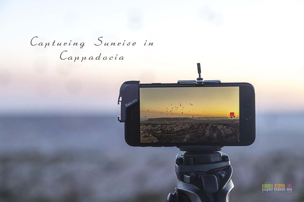 Capturing the sunrise in Cappadocia