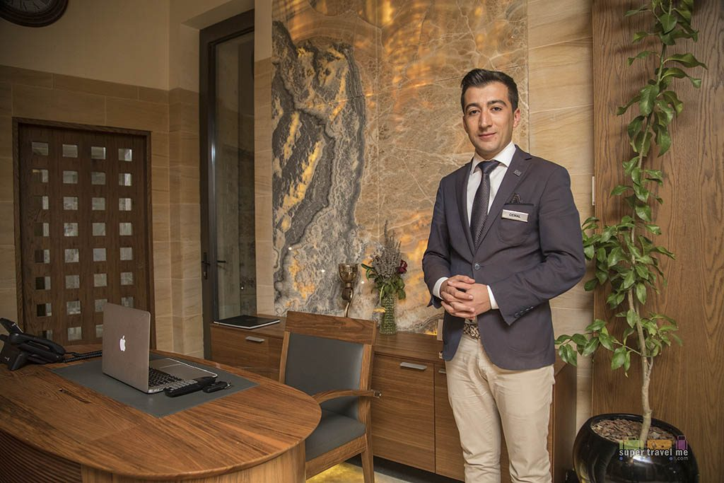 Cemal attended to guests at Ariana Sustainable Luxury Lodge in Cappadocia, Turkey