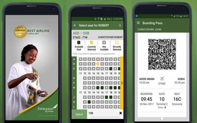 Ethiopian Airlines Android Mobile App