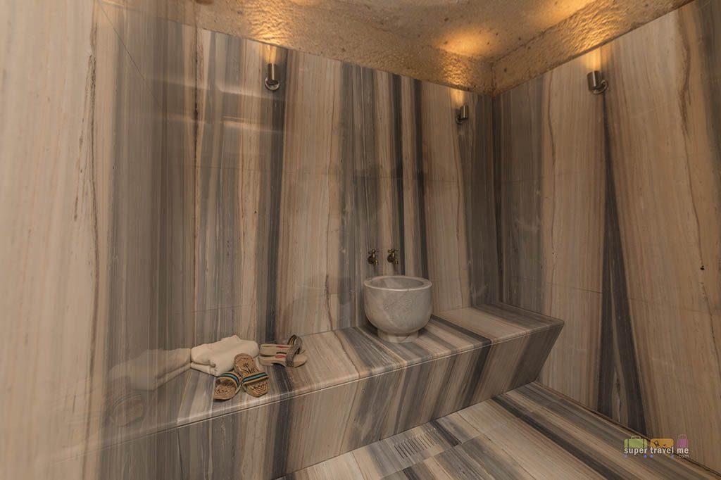 Private Hammam spa room in the Aruru King Suite at Ariana Sustainable Luxury Lodge in Cappadocia, Turkey