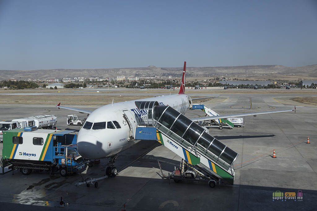 Turkish Airlines flight at Kayseri Airport (ASR)