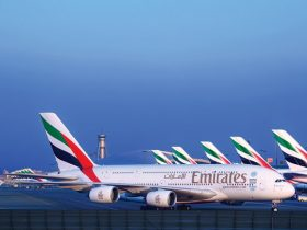 Emirates A380 Fleet at Dubai International