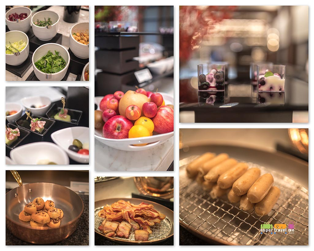 Le Meridien Seoul Club Lounge Happy Hour selection of food