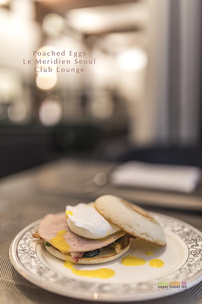 Poached eggs at Le Meridien Seoul Club Lounge 1G7A1843