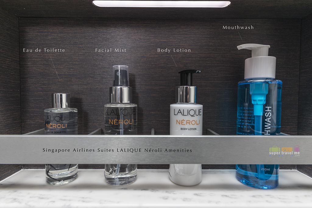 LALIQUE Amenities in Singapore Airlines A380 Suites