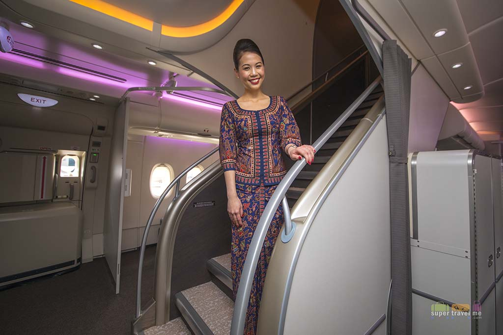 The new Singapore Airlines A380 suites are located on the front upper deck