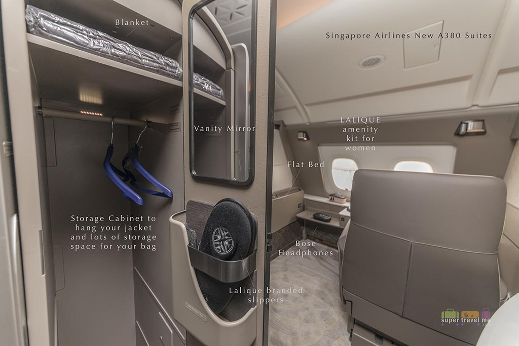 Singapore Airlines new suites coat storage