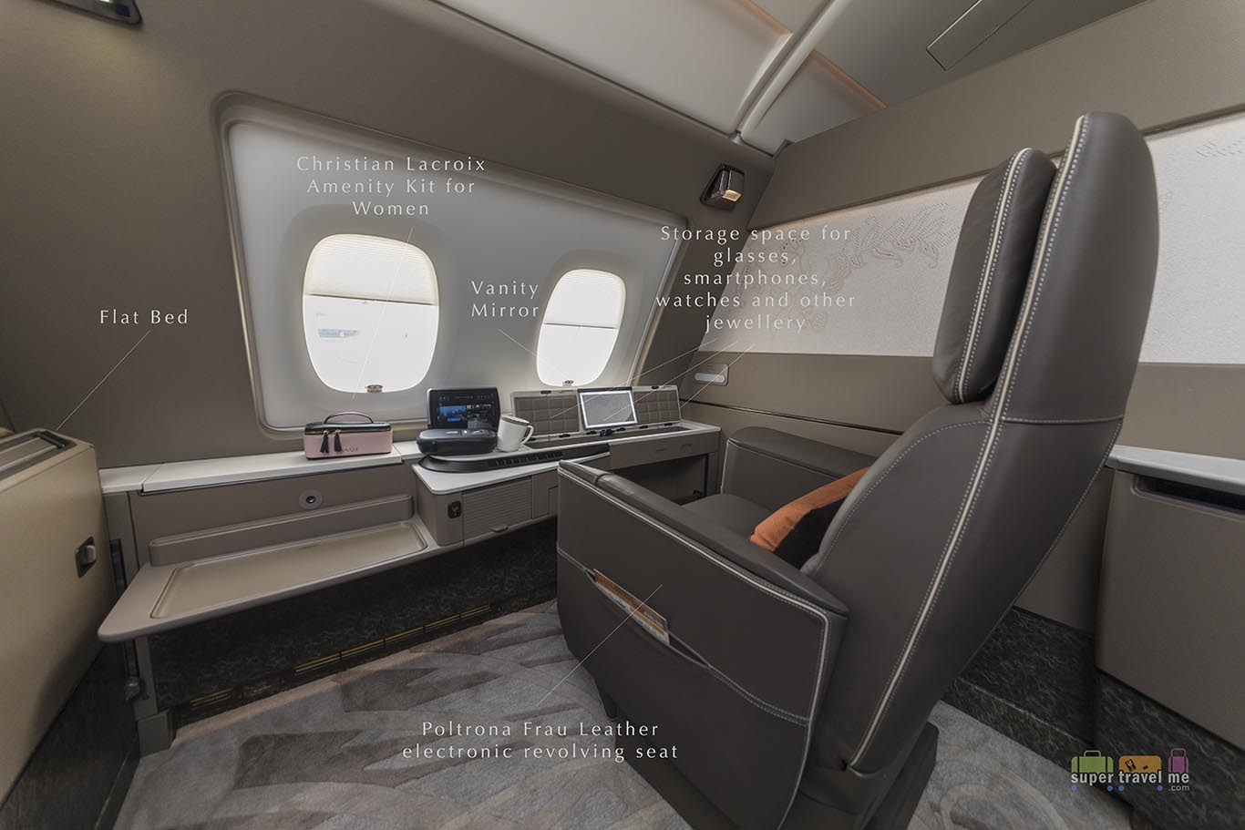 Singapore Airlines new Suites in the latest Airbus A380 aircraft 9V-SKU