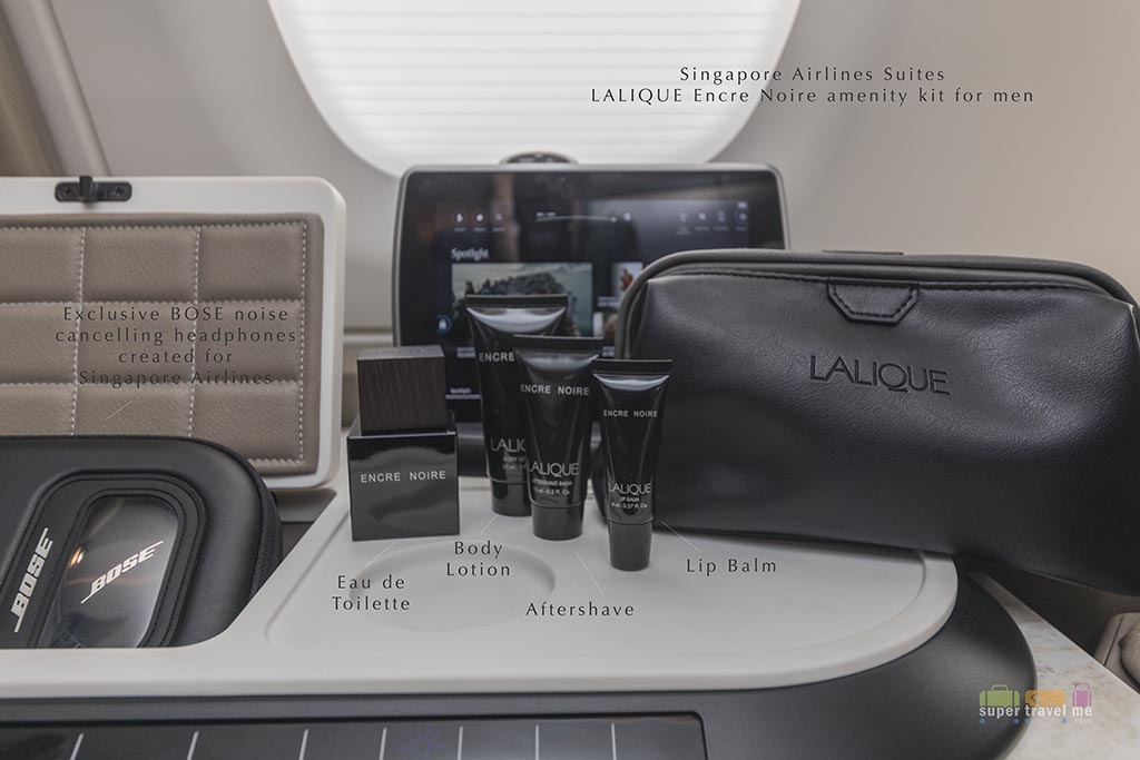 Singapore Airlines new LALIQUE amenity kits for men in the new Suites