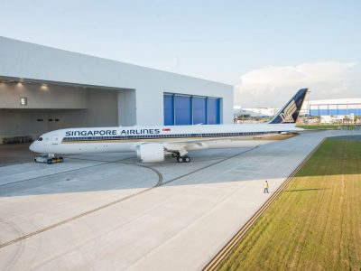Singapore Airlines 787-10 at Boeing South Carolina