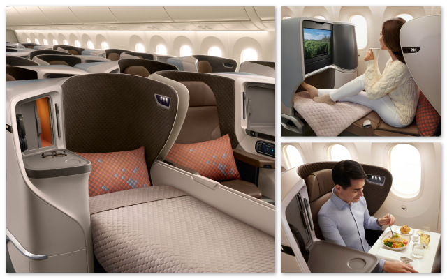 Singapore Airlines New Regional Business Class (SIA photo)